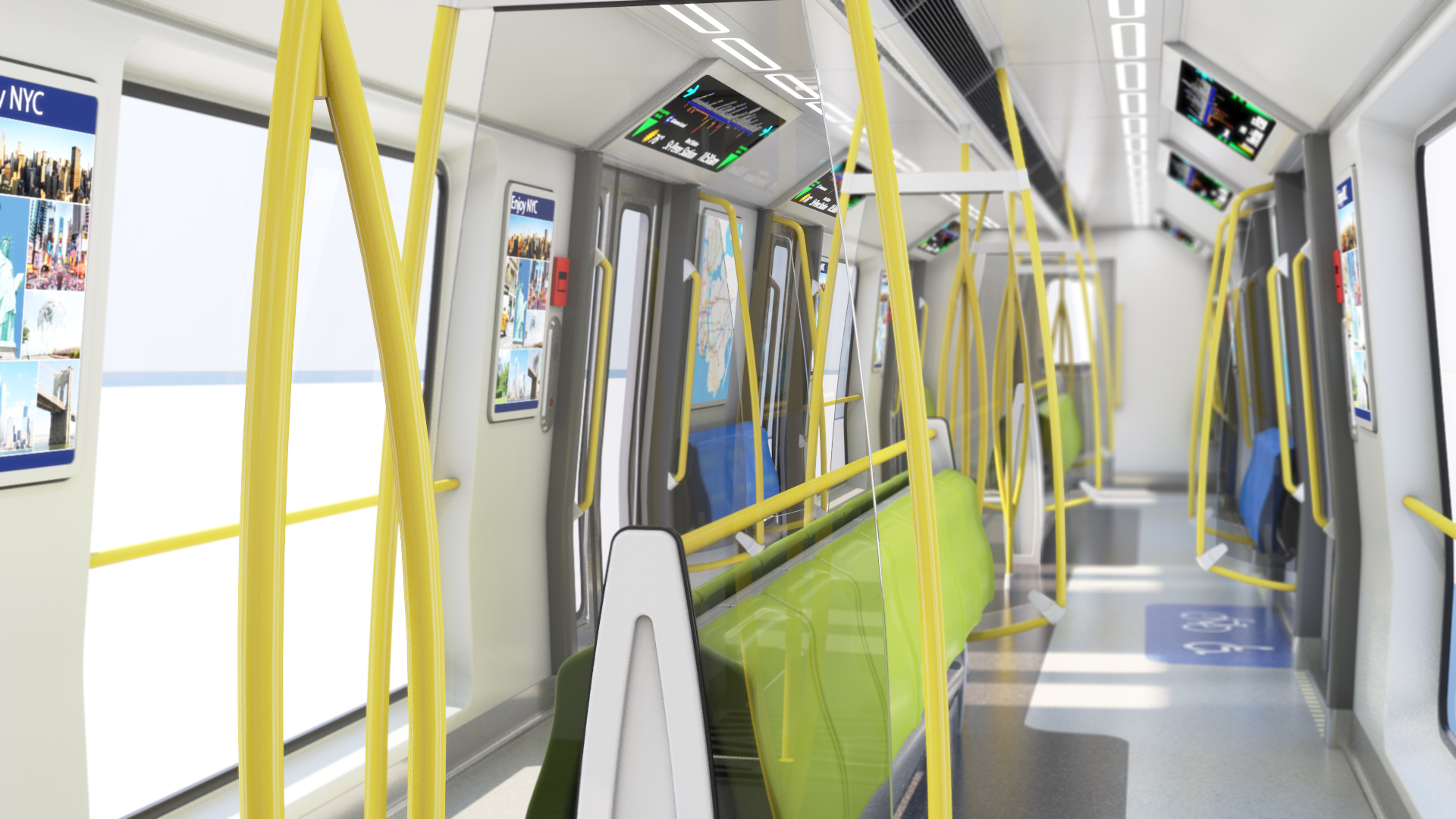 NYCT R211 – Subway Car Interior