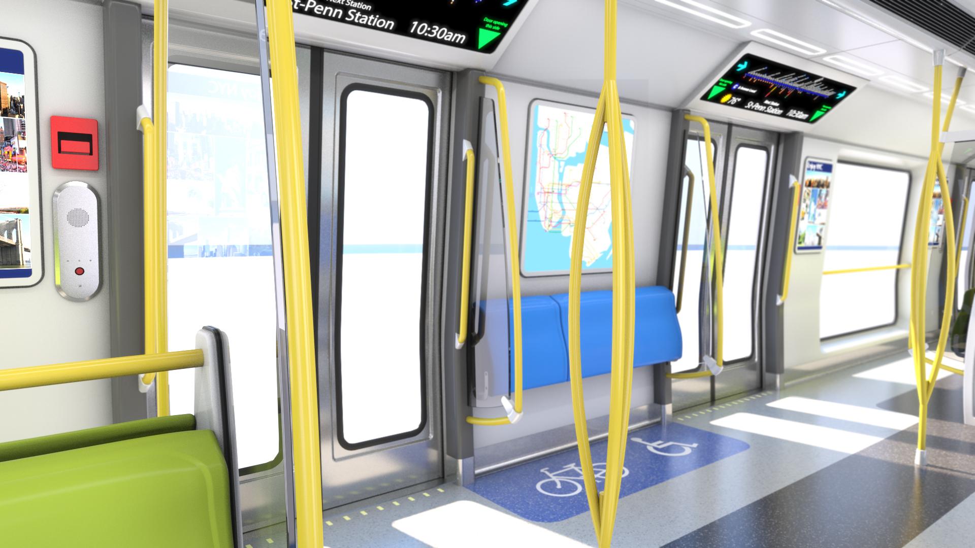 NYCT R211 – Subway Car Interior