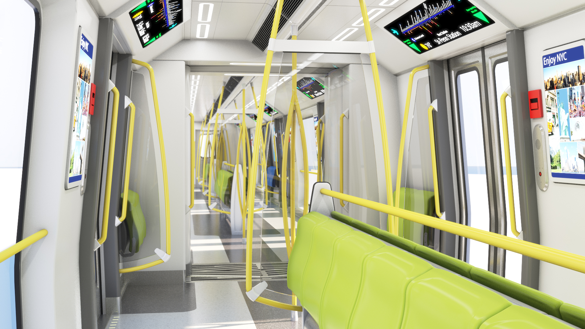 nyct r211 subway car interior carlos pilonieta portfolio. Black Bedroom Furniture Sets. Home Design Ideas